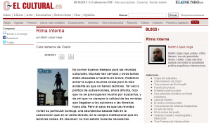 El Cultural: cien números de Clarín